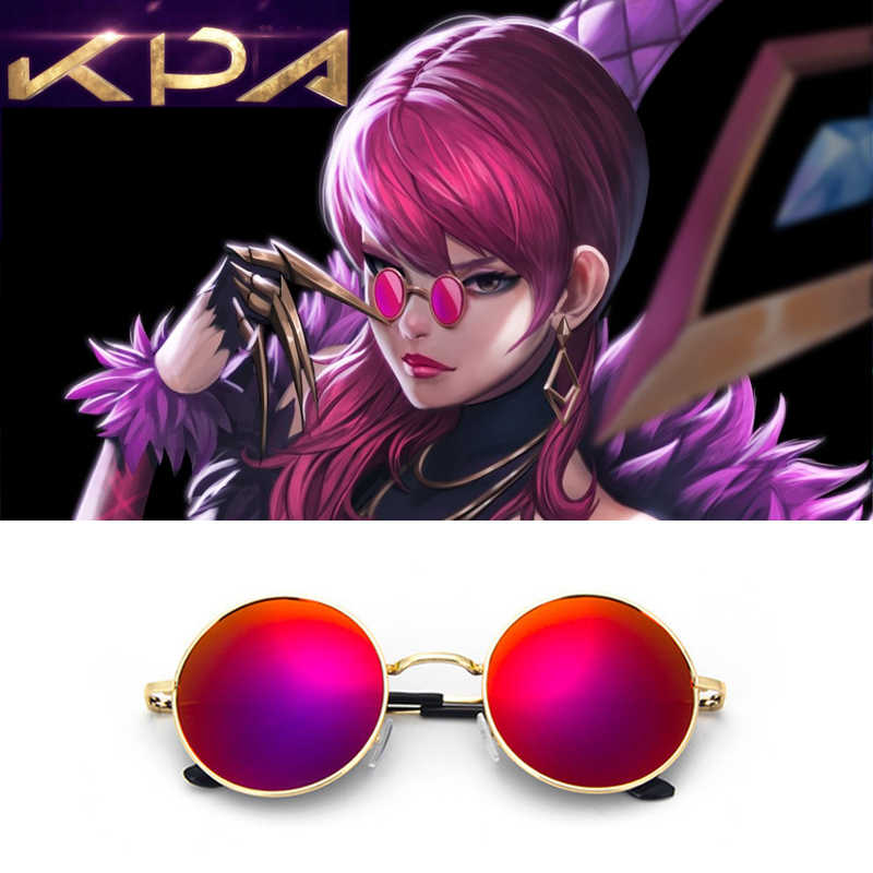 ROLECOS LOL KDA Evelynn Cosplay Props Red Sunglasses Glasses Women Men Gifts K/da