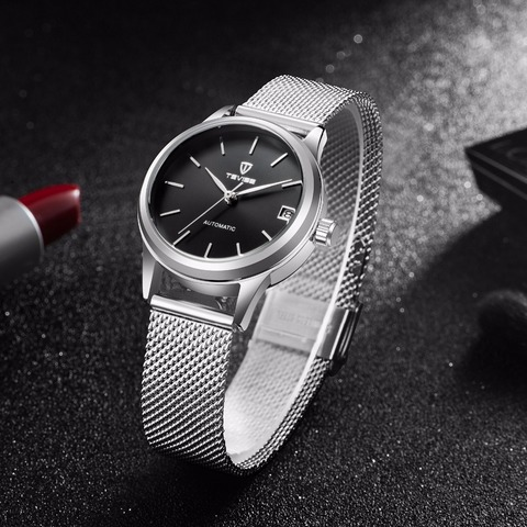 Tevise  Automatic Self-Wind Women Watches Mechanical Mesh Stainlees Steel Auto Date Fashion Causal Wristwatches 9017L Islamabad