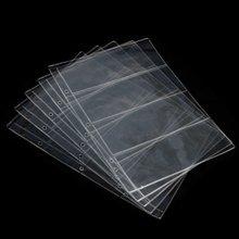 1 лист страницы альбома 4 кармана держатель для банкнот коллекция