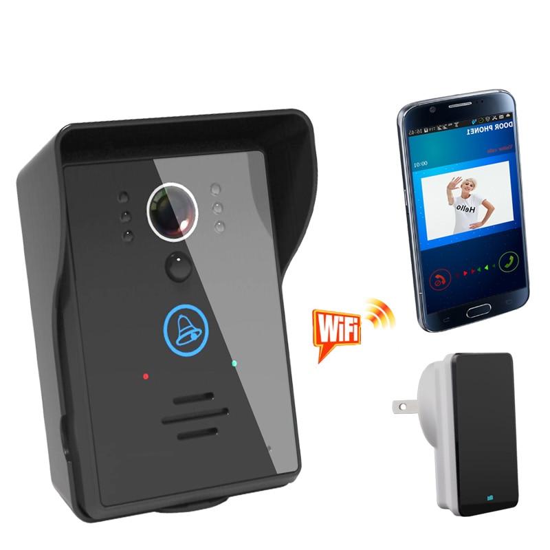 Visiophone sans fil numérique WIFI avec Vision nocturne IR et détection de mouvement avec couverture de pluie et Surface de touche tactile et application gratuite