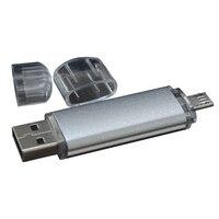 Mini OTG Smartphone Micro USB Flash Pen Drive 8GB 16GB 32GB Aluminum Surface Frosting Oxidized Shell