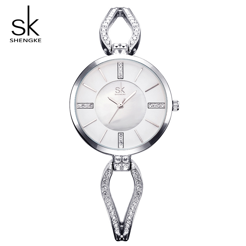 Shengke Top Brand Luxury Crystal Bracelet Watches Women Clock Quartz Watch Relogio Feminino 2019 SK Ladies Dress Watch #K0020
