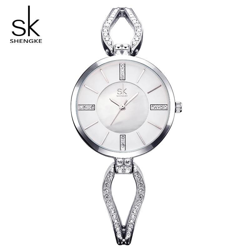 Shengke Top Brand Luxury Crystal Bracelet Relojes Reloj Mujer Reloj - Relojes para mujeres