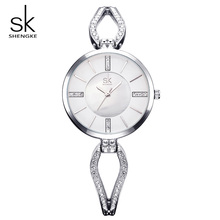 Shengke Top Brand Luxury Crystal Bracelet Watches Women Clock Quartz Watch Relogio Feminino 2019 SK Ladies Dress Watch #K0020