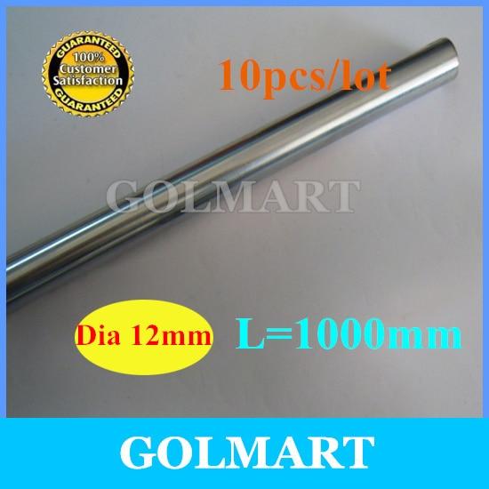 Линейный вал шт. 10 шт. диаметр 12 мм-L мм 1000 мм хромированный прецизионный закаленный стержень линейный круглый вал