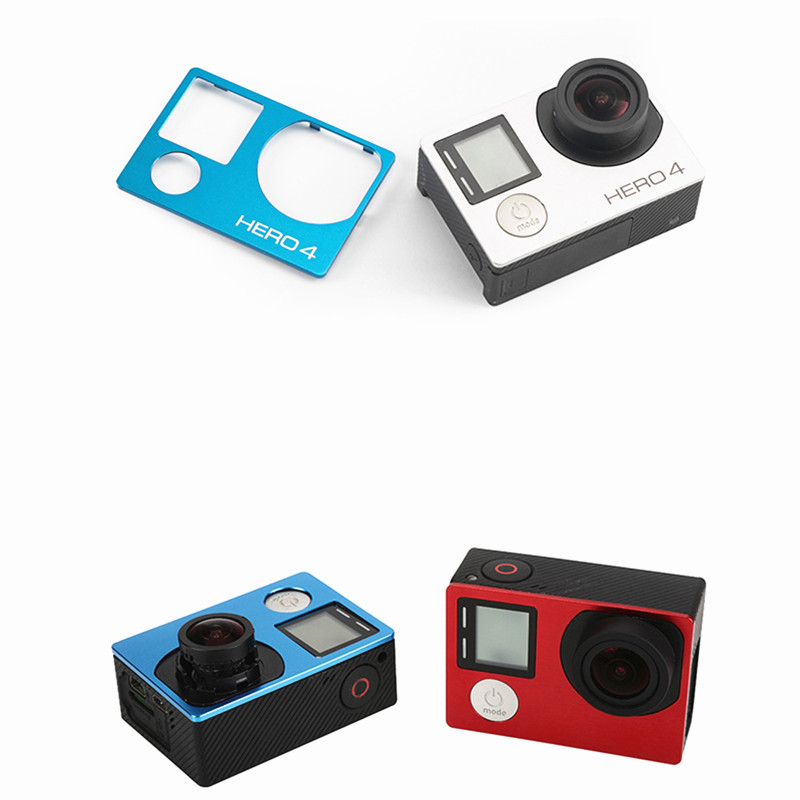 Image 5 - Suptig New Accessories  For Gopro Aluminum Front Board Cover Replacement Mount for Gopro Hero 4 Camera Faceplate Repair-in Sports Camcorder Cases from Consumer Electronics