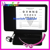 W094 Led Illuminated Letters Near Vision Chart 40cm Double side Reading Visual Acuity Chart Back With Amsler Grid