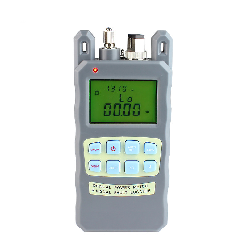 AUA-80A All-IN-ONE Fiber Optical Power Meter -70 To +10dBm And 10mw 10km Fiber Optic Cable Tester Visual Fault Locator