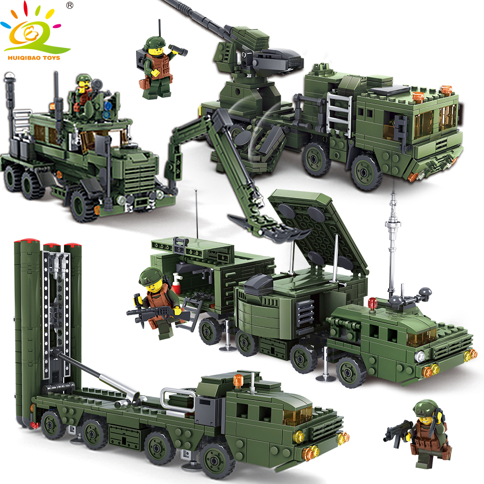HUIQIBAO Toys Military Vehicle Weapon Figures Building Blocks Educational Toys For Children Compatible Legoed Soldiers Bricks space series discovery space shuttle bricks toys mini children educational building blocks toys compatible legoed