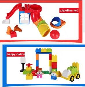 Image 2 - Classic Big Size Slide Building Blocks House Figures Aminals Assembly Blocks Plastic Castle Compatible Duploed DIY Bricks Gift