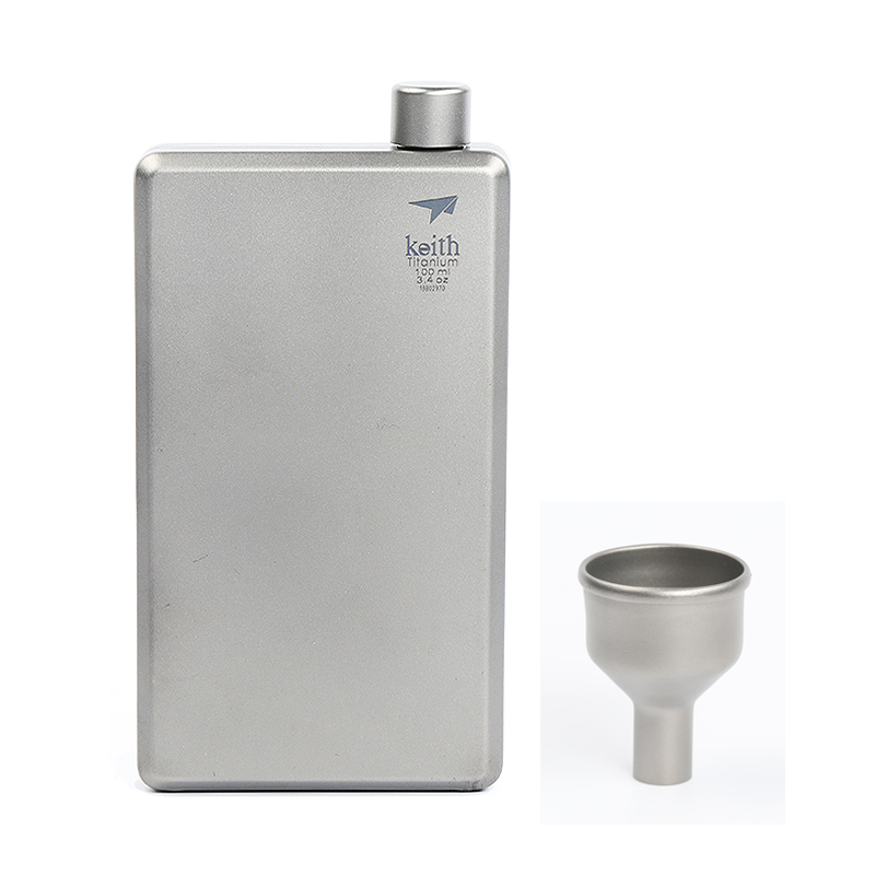 Keith Outdoor Camping Titanium Hip Flask 100ml Hiking Portable Flagon Colorful or Silver Ti9300 /Ti9306 футболка tom tailor 1038413 09 70 6593