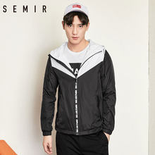 SEMIR Jackets mens long sleeve overcoat with hood chic fashion clothes spring outwear streetwear for man chic style outwear(China)