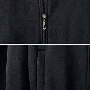 Image 5 - גברים של גודל גדול מעיל סתיו וחורף ארוך שרוול 6XL 7XL 8XL 9XL 10XL שחור אפור כותנה רוכסן גדול גודל מזדמן מעיל