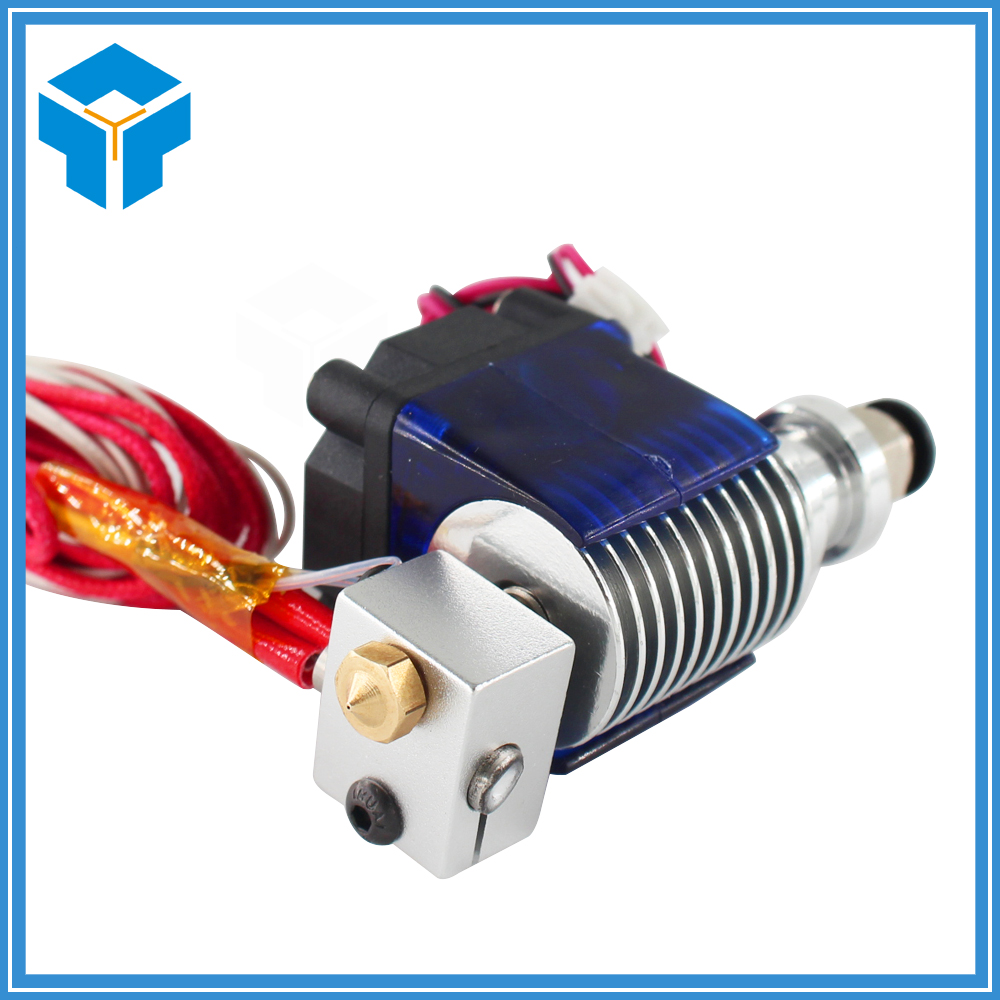 12v or 24v 3D Printer J-head Hotend 3D V6 with Cooling Fan for 1.75mm/3.0mm Direct Filament Wade Extruder 0.2/0.3/0.4mm Nozzle new 12v e3d v6 3d printer extruder j head hotend 0 4mm nozzle for 1 75mm filament fan