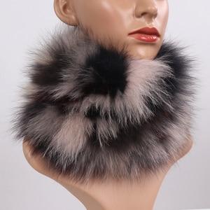 Image 2 - New Real Fox Fur Scarf Fur Headbands Women Winter Ring Fox Fur Scarves Luxury Neck Warmer Good Elastic 100% Natural Fur Mufflers