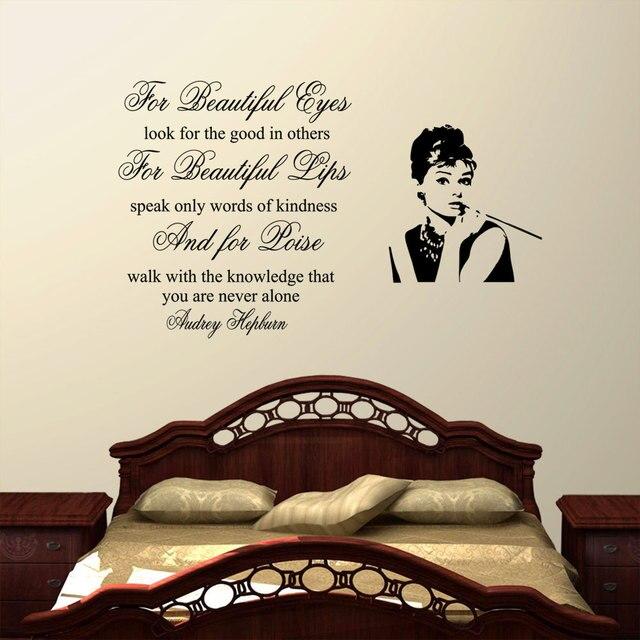 audrey hepburn wall decals bedroom living room poster mural art