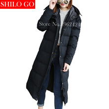 Brand HOT 2016 Winter new fashion women high quality Korean super loose hooded thick warm black