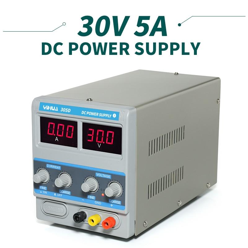 YIHUA 305D-I Variable Adjustable DC Power Supply 30V 5A Regulator Power Supply ac 220v to dc 0 100v plc 0 5a 500w adjustable variable power supply regulator