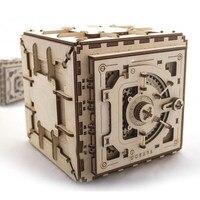 Деревянный механической коробкой передач модели подвижных собраны Сейф Творческий подарок DIY игрушка головоломка 179 шт.