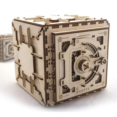 Wooden Mechanical Transmission Model Movable Assembled Safe Box Creative DIY Gift Puzzle Toy 179pcs ...