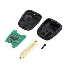 Professional 3 Buttons Remote Control Car Key Blade Remote Key Fob Controller For PEUGEOT 433MHZ With PCF7961 Transponder Chip(China)