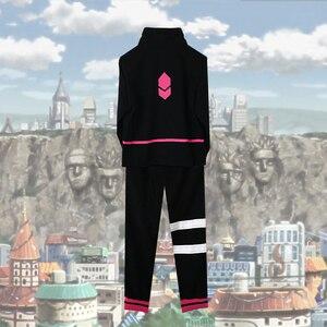 Костюм для косплея Naruto Shippuden Uzumaki Boruto, Черная Спортивная одежда для Хэллоуина, комплект с пальто и штанами