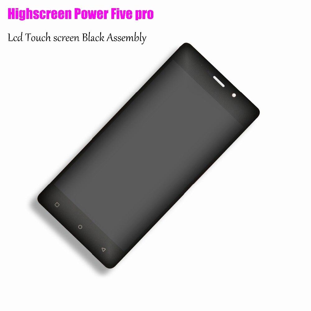 100% NOUVEAU Compatible pour Highscreen Puissance 5 Pro Écran Lcd Display + Tactile écran Tactile Boutons Puissance cinq livraison gratuite