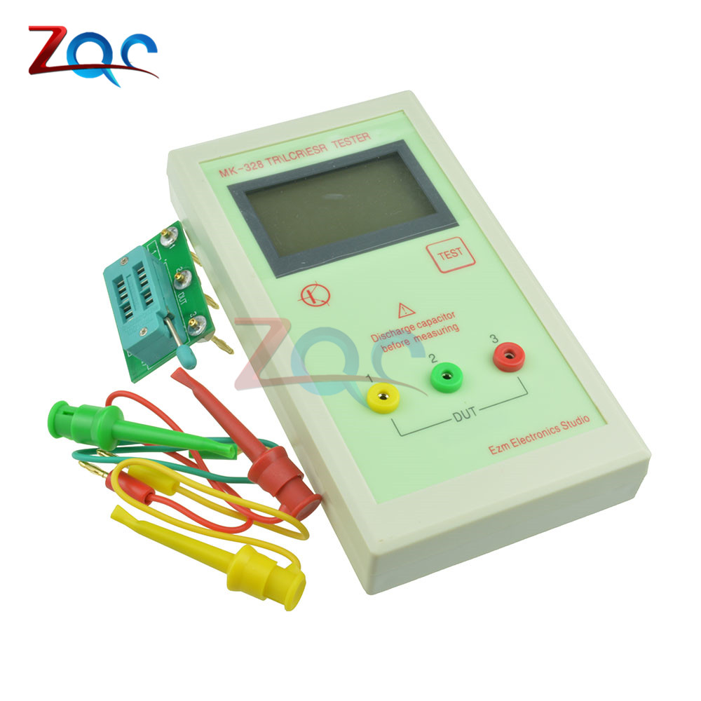 MK-328 ESR Meter Tester Transistor Inductance Capacitance Resistance LCR TEST MOS/PNP/NPN Automatic Detection diy lcr digital electric bridge resistance capacitance inductance esr meter kit set
