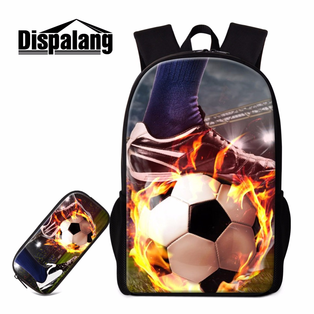 Dispalang cool Trendy patterns Backpack for student Book bags with pencil pouch Teens Back Pack Boys Sporty Style unique School