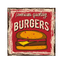 Burgers Plaque Vintage Metal Tin Signs Home Bar Pub Decorative Metal Plate BBQ Wall Stickers Iron Fruit Art Poster 30*30cm N221 dad s barbecue decorative signs beer bbq plaque metal vintage wall bar home art retro restaurant decor 30x20cm du 6034a