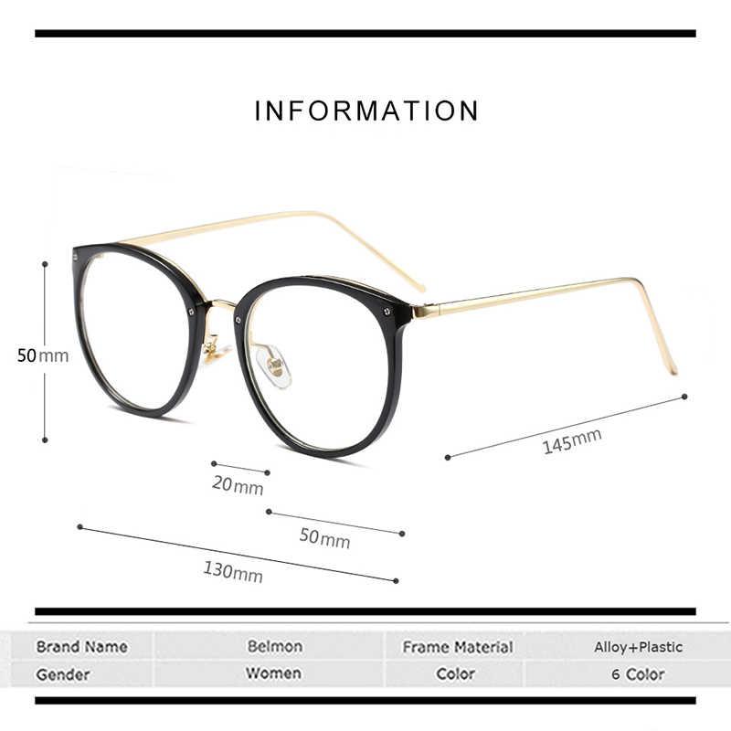 Belmon очки оправа женские очки для работы за компьютером с диоптрией Близорукость Оптические для женщин очки с прозрачными линзами оправа очки RS522