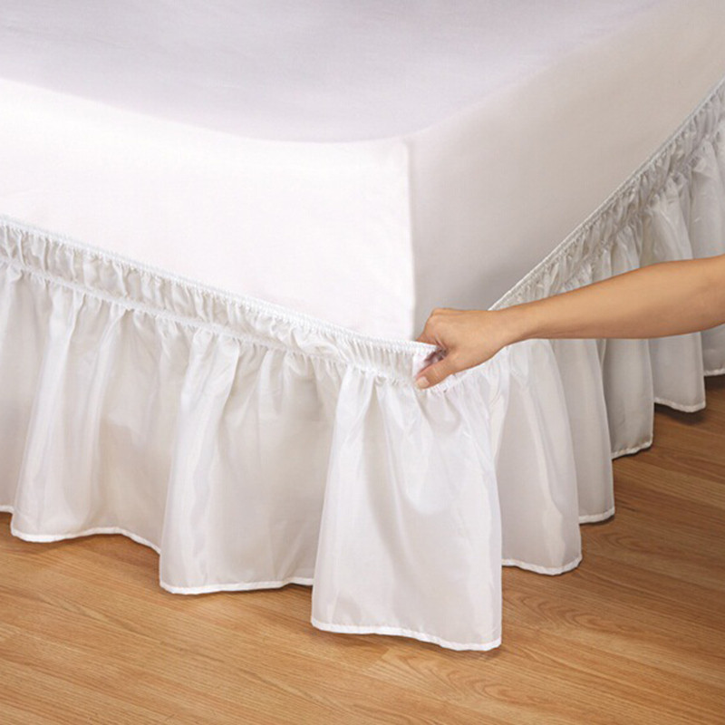 Bed Skirt 6 Colors Brushed Cloth Bed Covers without Bed Surface King Queen Size Elastic Band Bed Skirts 38cm Height Bedspread