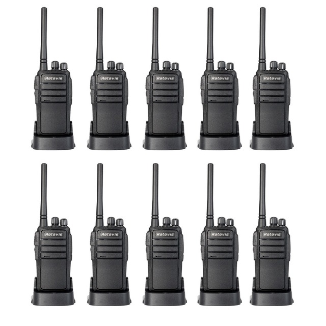 10pcs Walkie Talkie Retevis RT21 UHF 400-480MHz 16CH Scrambler Squelch CTCSS/DCS TOT VOX Scan Two Way Radio Amateur A9118B