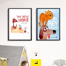 My New Home Kids Cartoon Canvas Art Print Painting Poster Wall Pictures For Room Decorative Decor No Frame