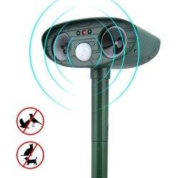 Solar Ultrasonic  Repeller Deterrent Pest Outdoor Garden Cat  Infrared Sensor Animal Repellent Chaser Ultra Sonic Repeller 2619