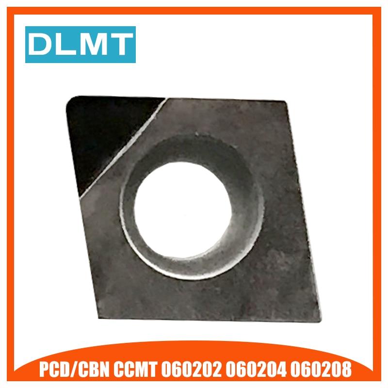 1PCS PCD CBN CCMT060202 CCMT060204 CCMT060208 Lathe Turning Inserts CNC Diamond Cutter For Lathe Tools