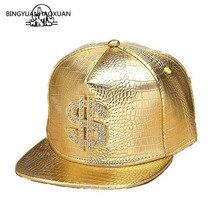 2019 Golden Red Black PU Leather Cap Dollar Sign Hats Belt Buckle Baseball Caps Gorras $ Snapback Adjustable Men Hip Hop Hats все цены