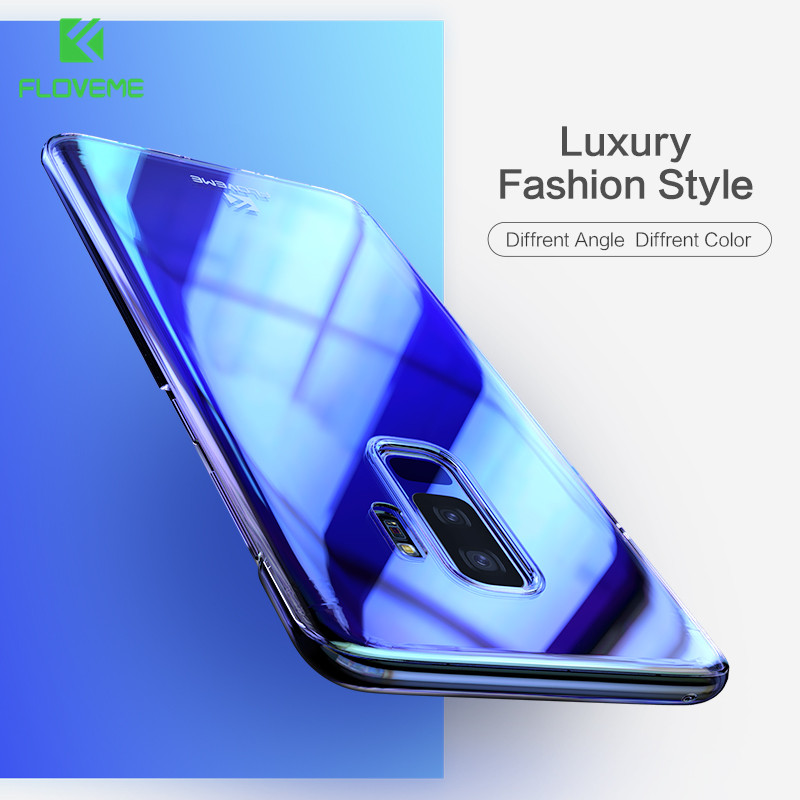 FLOVEME Blue Ray Phone Case For Samsung Galaxy S9 S8 Plus Ultra Thin PC Cover For Samsung S8 S9 Plus S6 S7 Edge Note 8 9 Cases
