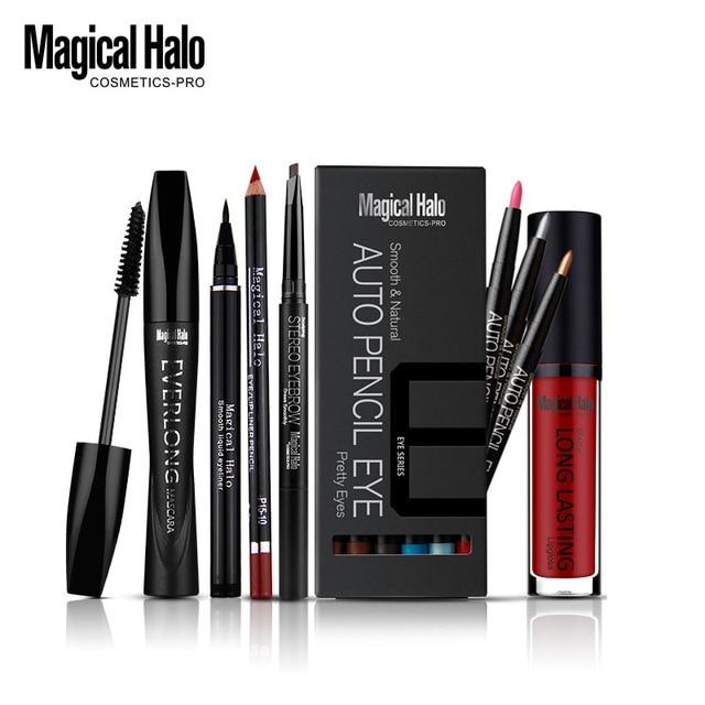 Makeup Kits 12 Colors Shimmer Eyeshadow Pencil Waterprood Thick Curling Mascara Eyebrow Enhancer Fast Dry Liquid Eyeliner