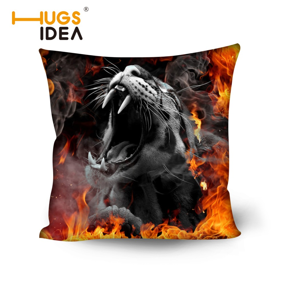 HUGSIDEA Pretty 50x50cm Cushion Cover Cool Printing Animal Leopard House Hiasan Bantal Katil Sofa Bantal Cushion Kereta