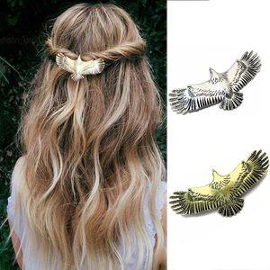Женские заколки для волос с орлом, Винтажные заколки для волос в стиле панк, подарочные украшения для волос