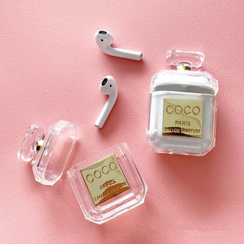 2019 parfüm flasche Silikon Fall Für Airpods Kopfhörer Schutzhülle Luxus Stoßfest und Drop Klar Weichen TPU Fall Für Apple