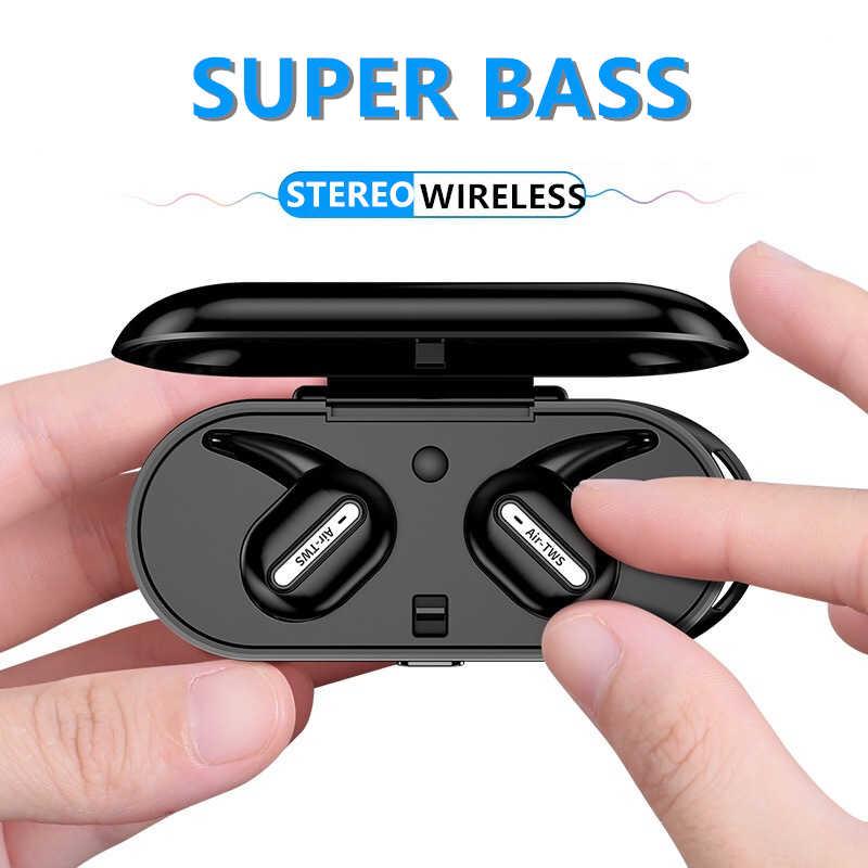 AIR-TWS אלחוטי Bluetooth V4.2 רעש מבטל ספורט אוזניות סטריאו מוסיקה אוזניות עבור Xiaomi סמסונג Huawei אוזניות
