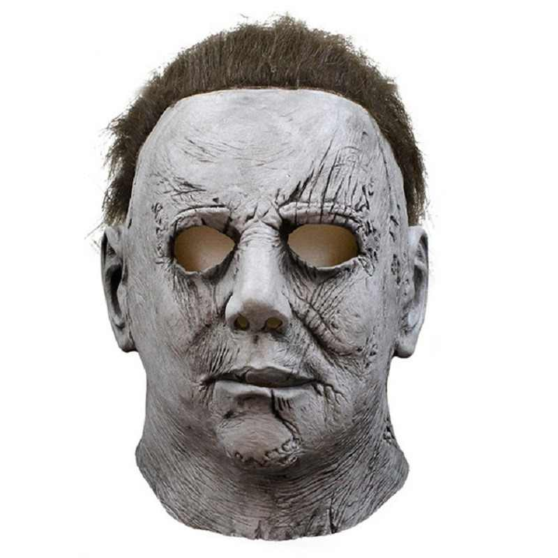 Movie Horror Michael Myers Halloween Mask Cosplay Scary Latex Masks Helmet Party Costumes