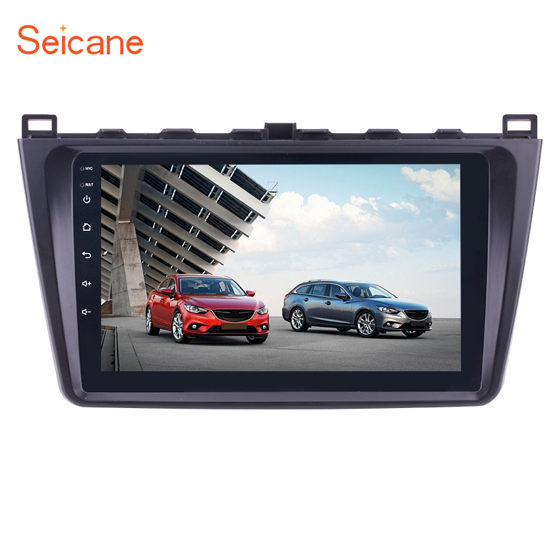 Seicane 9 2din Bluetooth WIFI navigation gps autoradio Android 7.1/Android 8.1 lecteur multimédia pour 2008-2015 Mazda 6 rui aile