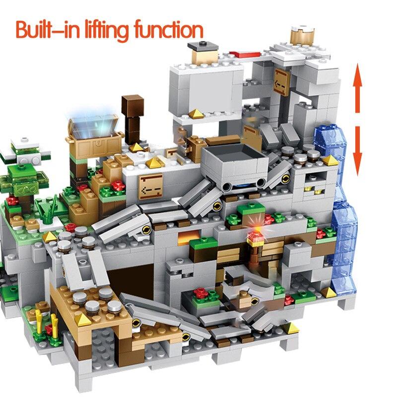 Blocos de Montar Caverna da Montanha Minecraft 1000 Peças + 12 Personagens – Genial Ofertas