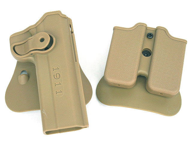 DEFENSE Polymer Retention Roto Holster and double magazine holster Fits 1911 Style image