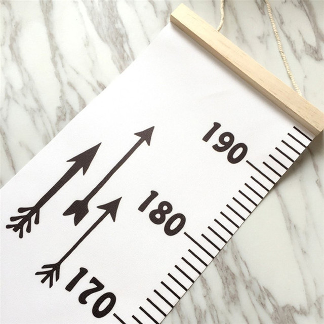 2018 Baby Height Growth Chart Hanging Rulers Kids Room Wall Wood