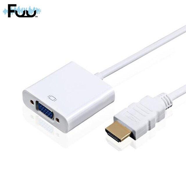 1080 P HD HDMI для VGA Адаптер Для Xbox 360 PS3 Портативных ПК TV Box для Проектора цифро-Аналоговый Аудио Конвертер M/F Видео Кабель
