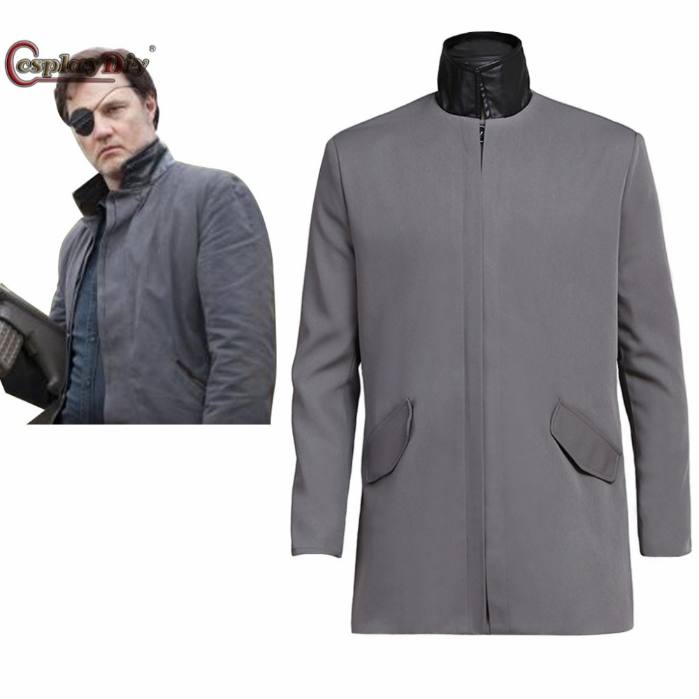 Cosplaydiy The Walking Dead Cosplay Costume The Governor Phillip Blake Cosplay Jacket Men Halloween Top Coat Custom Made